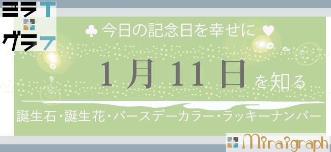 1月11日の誕生石誕生花バースデーカラーラッキーナンバー