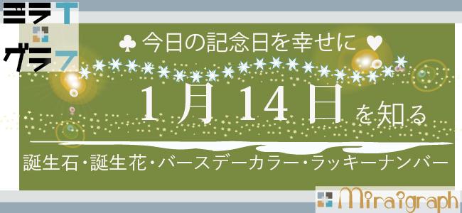 1月14日の誕生石誕生花バースデーカラーラッキーナンバー