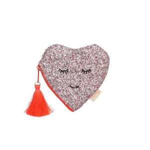 MM Glitter Heart Coin Purse
