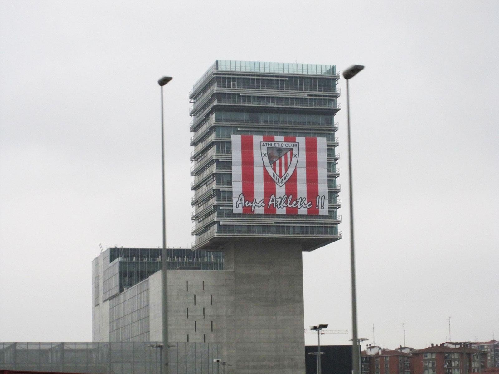 bec final athletic club bilbao copa rey bandera gigante