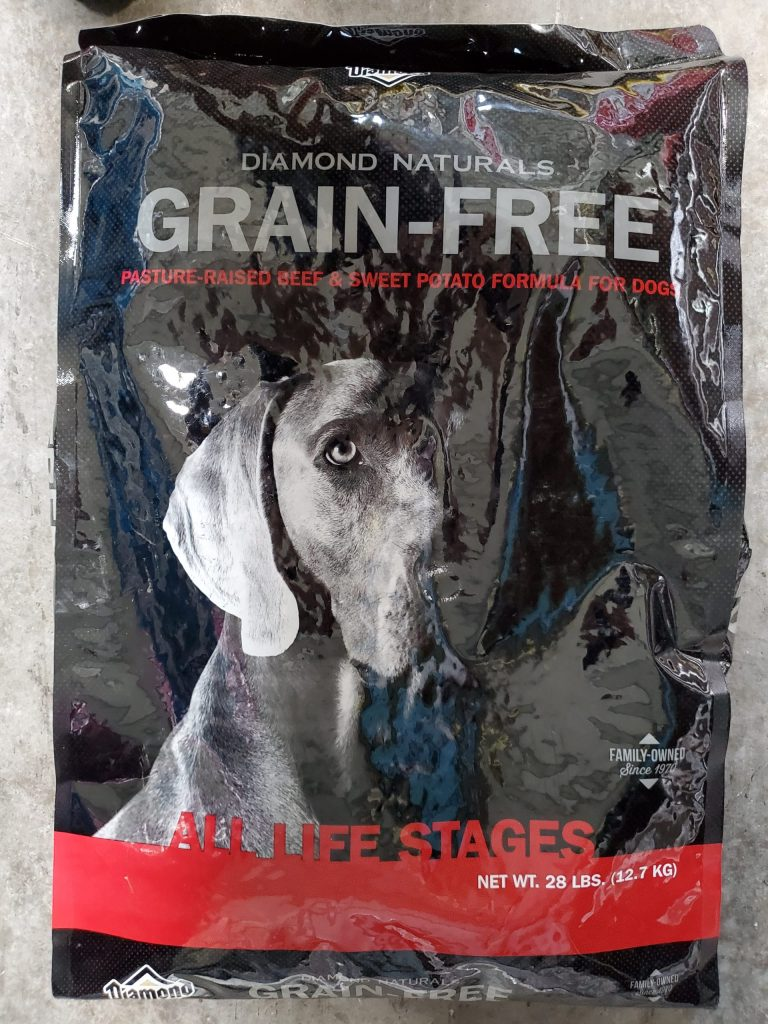 Diamond grain free all life stages dog food twenty eight pound bag for sale