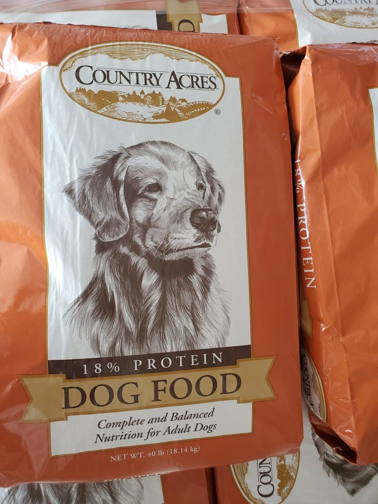 Purina Country Acres forty pound bag eighteen percent protein Dog Food for sale