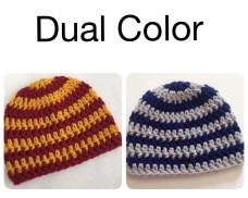 Dual Color Crochet Hats