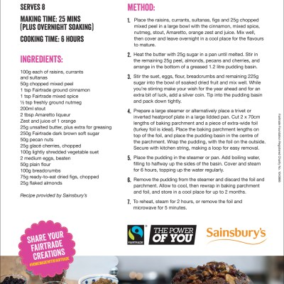 Stir Up Sunday Christmas Pudding Recipe