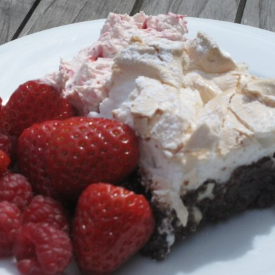 Decadent meringue brownies