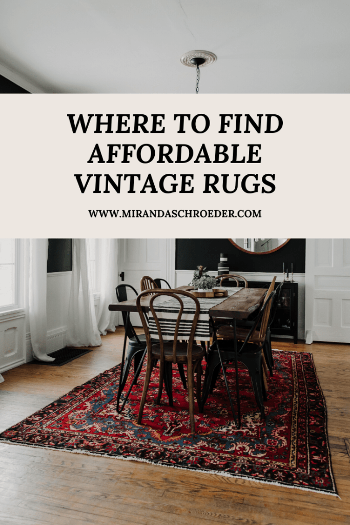 Where to Buy Affordable, Vintage Rugs | Miranda Schroeder   Vintage, Persian, Antique Rugs  www.mirandaschroeder.com