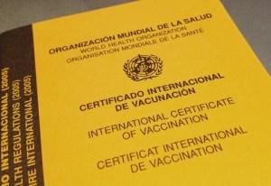 fiebre amarilla certificado