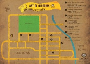 Mapa Art Street Ipoh