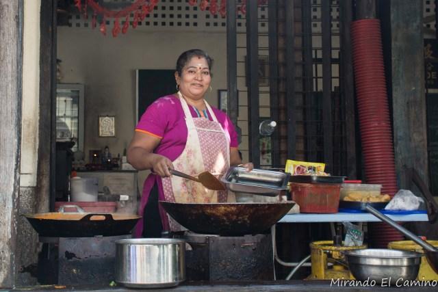 Comida callejera India en Georgetown