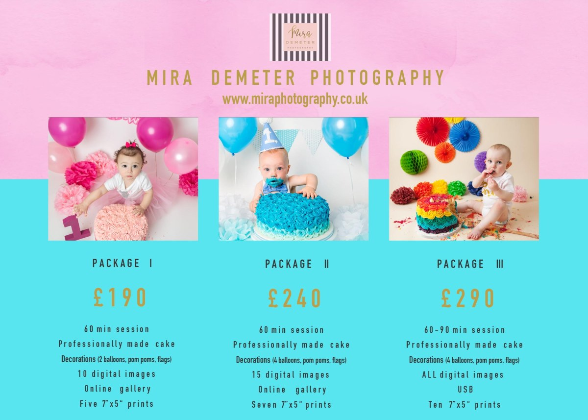 cake smash pricelist mira demeter photography