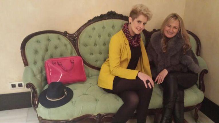 Junto a Ana Llopis, gerente del Grupo Llopis
