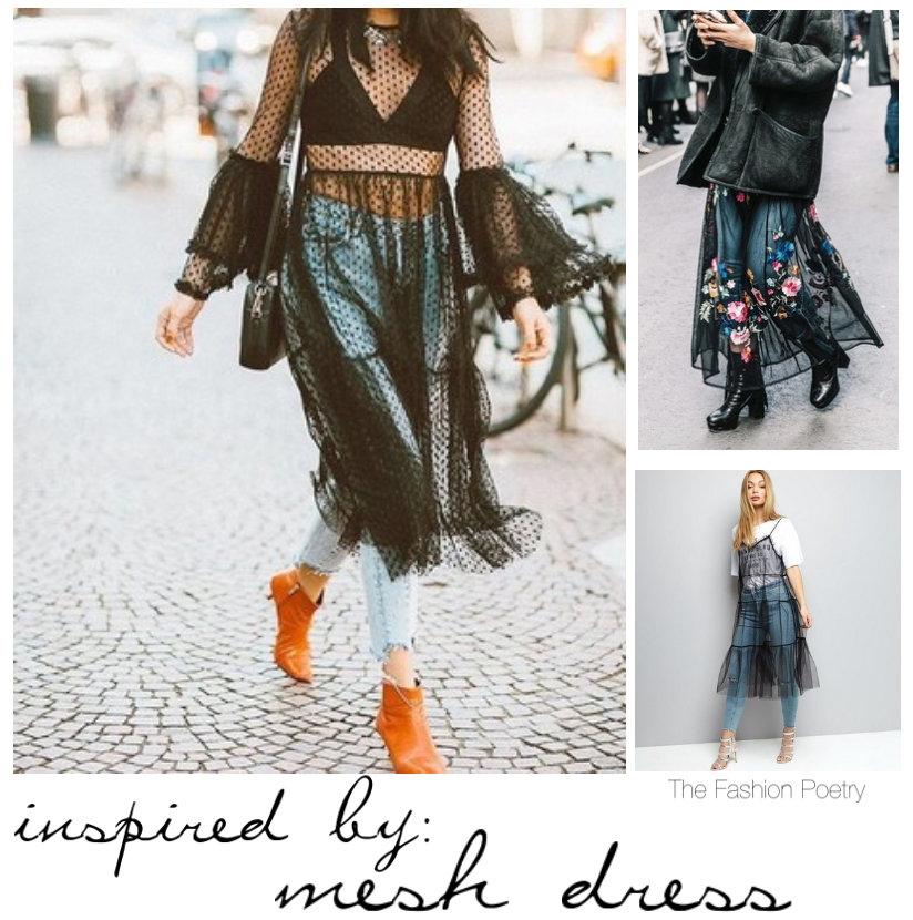 How to wear mesh dress