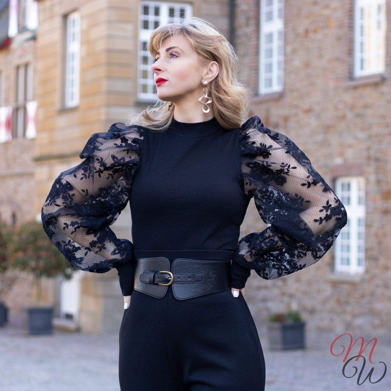 Femmeluxefinery schwarze Bluse