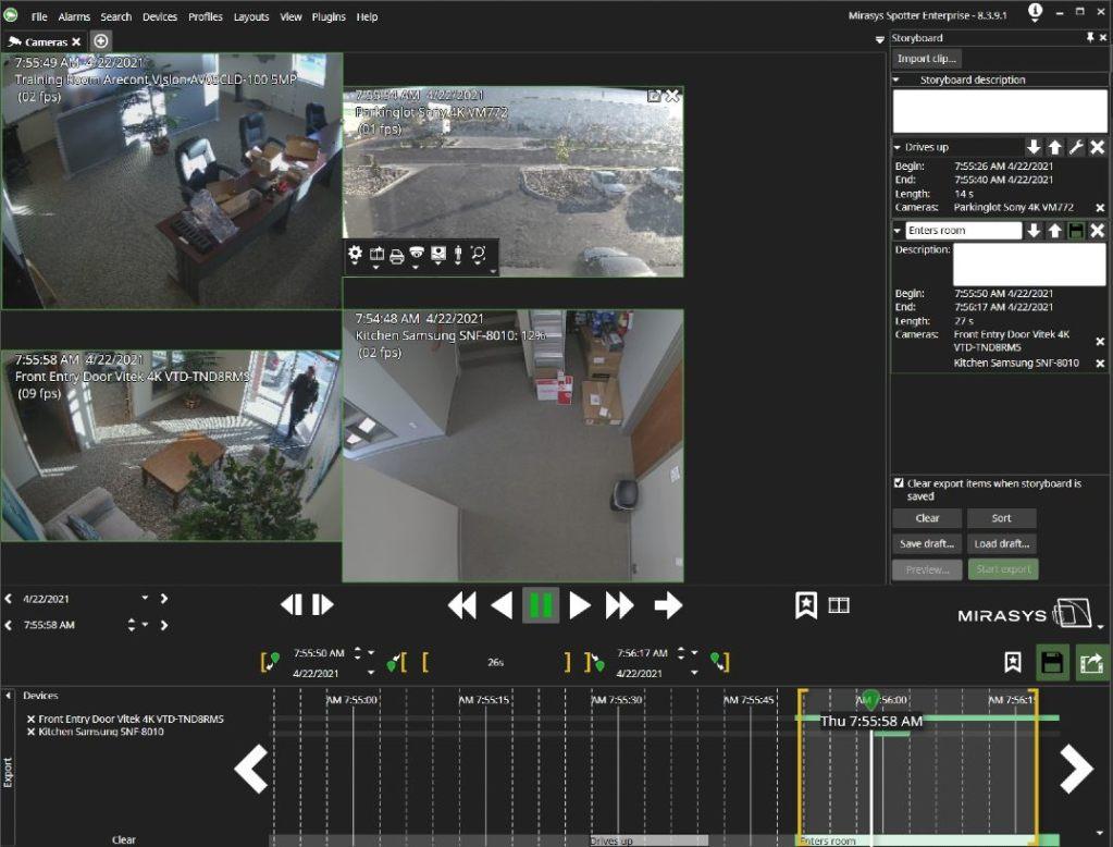 Full screen of storyboard Spotter