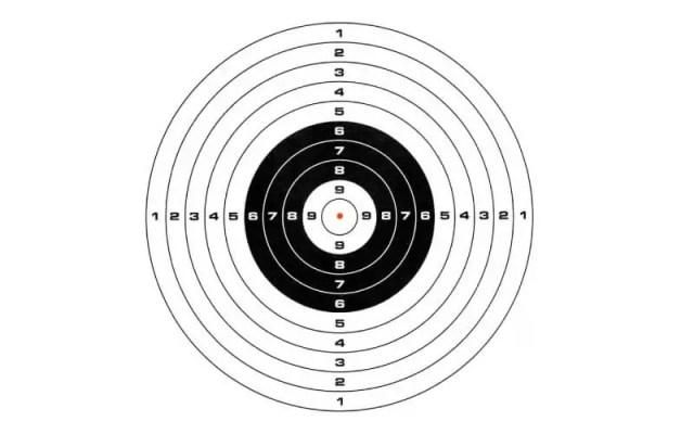 comprobacion de disparo al centro del blanco