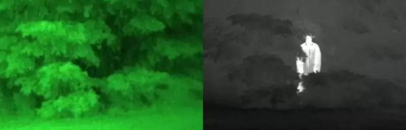 vision nocturna vs visión térmica o infrarroja