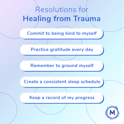 New Year's Resolutions for healing from trauma