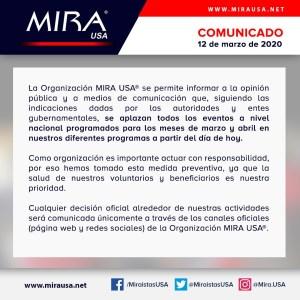 COMUNICADO OFICIAL MIRA USA®