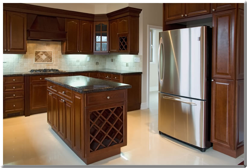 kitchen cabinets for sale cheap lighting options spray lacquer finish damage | cabinet refinishing ...