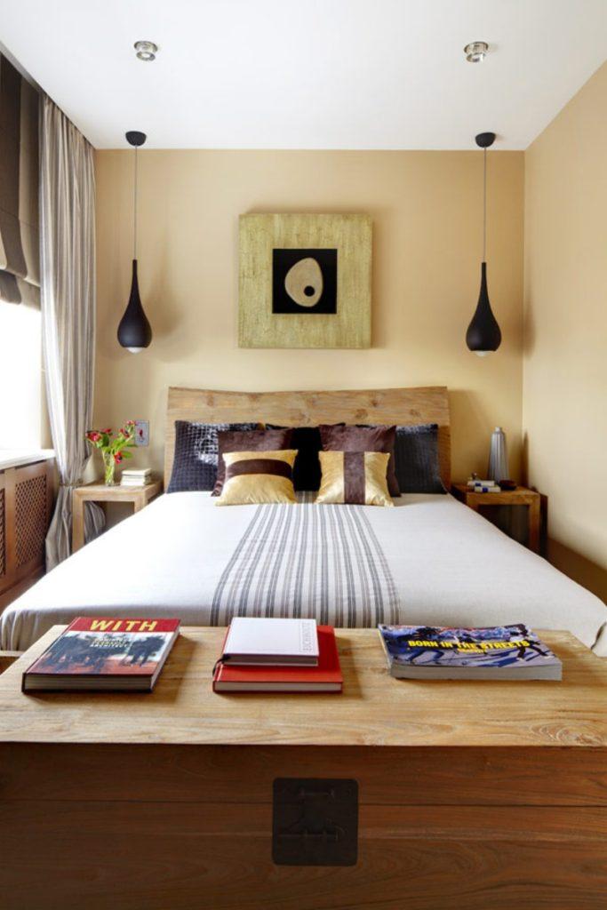узкая длинная спальня дизайн фото 3