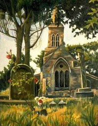 English Churchyard * Oil on canvas * 1993