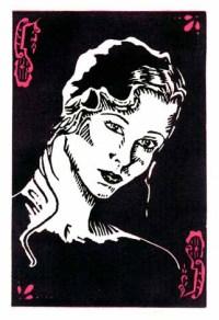 Deco Girl * Linocut * 1988