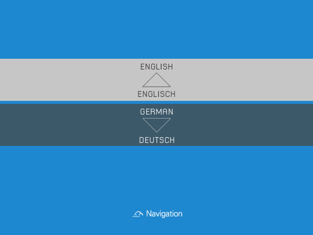 Autostadt - Select your langauage GPS voice commands and text are localised