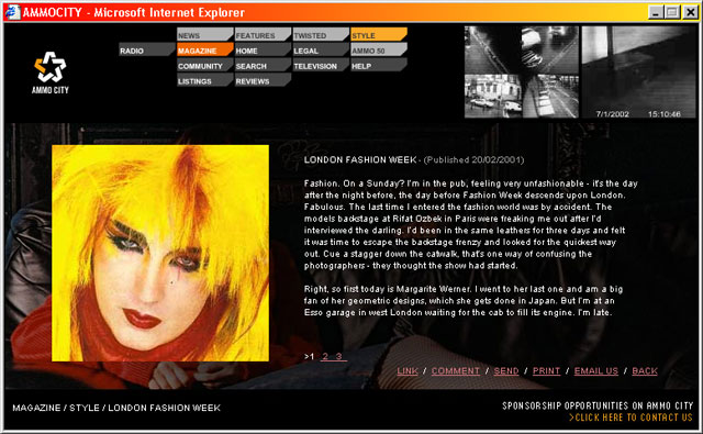Ammocity - Magazine Style article on London Fashion Week