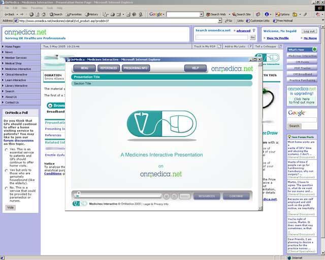 OnMedica — Medicines Interactive on-demand