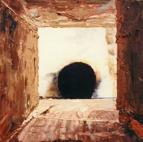 Skylight (from portals series) * Sculptural oil on 4 inch deep canvas * 1994