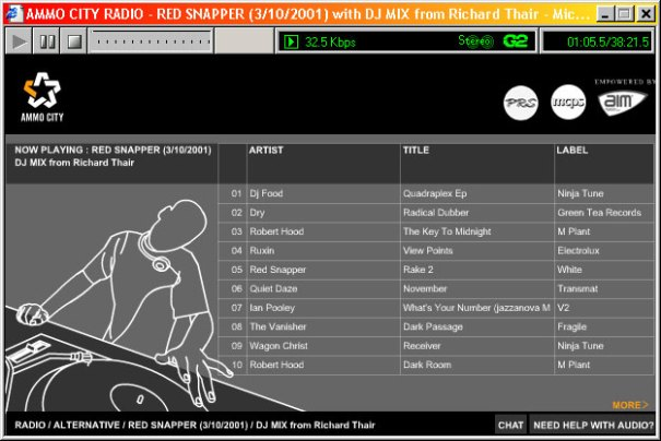 Ammocity - Radio track listing for DJ set