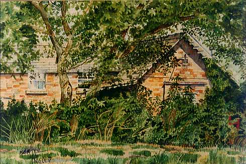 Little Gidding School (commission) — watercolour on paper — 1989