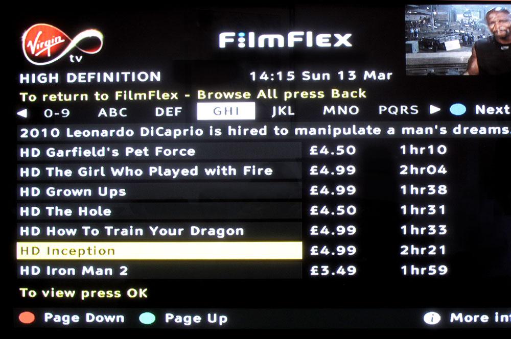 Virgin Movies - HD page