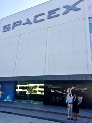 Dad and me at SpaceX