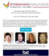 Streaming Forum — London, UK — 26 February, 2019 @ ExCeL