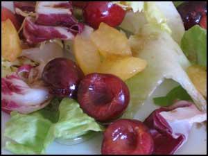 Ensalada de cerezas al melón.