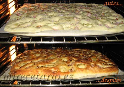 Focaccia de Patata en el horno...