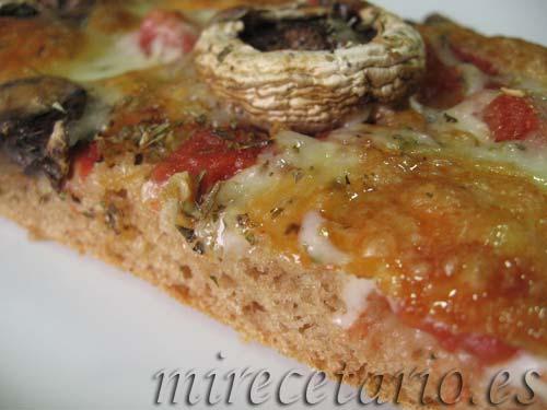 Pizza EcoMonegros con Champiñones