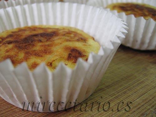 Falsas Magdalenas de Tortilla de Patata