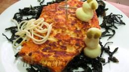 Tortilla de calabaza para Halloween