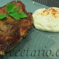 Ternasco de Aragón con Foie y Espuma de Patatas Fritas