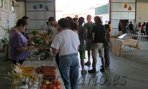 Muestra de productos hortícolas.