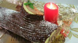 Tronco de Navidad relleno de trufa