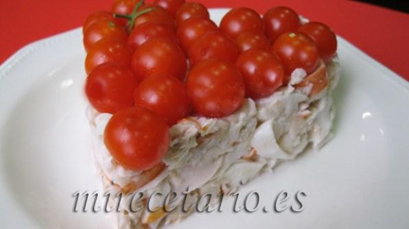 Detalle del pastel de merluza.