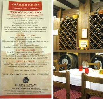 Menú de Otoño 2012 Restaurante Albarracín
