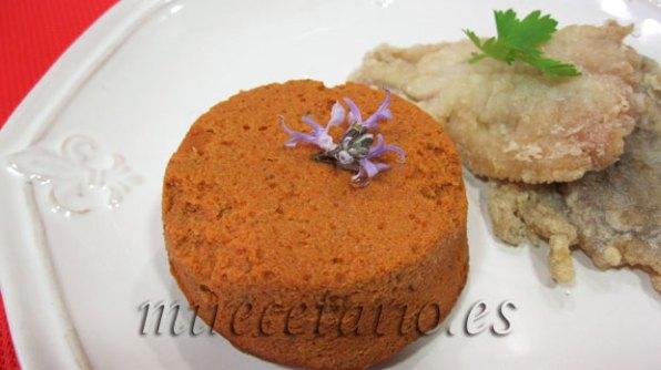 Flan de tomates secos de Caspe