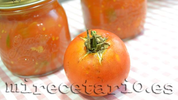 Salsa de tomate frito en panificadora {Conservas caseras}