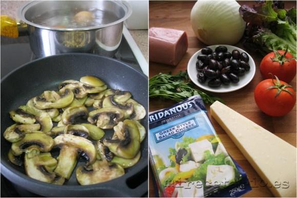 Los diferentes ingredientes del la Ensalada Ovcharska