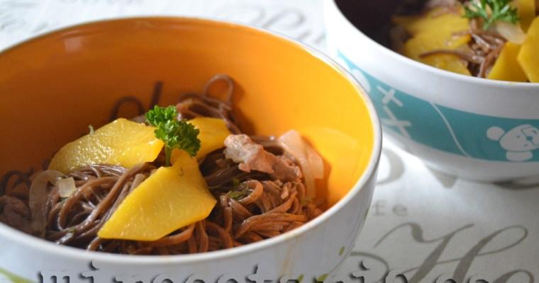 Noodles con Melocotón {5aldía}