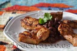 Lomo guatemalteco con frijoles